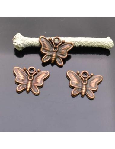 Farfalle Ciondolo Farfalla col  rame 15x18 mm 3 Pz per bigiotteria