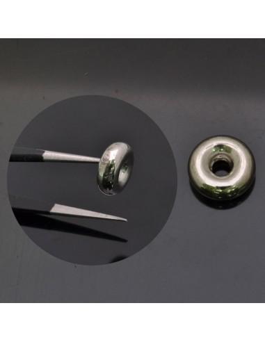 Distanziatore ciambella bracciali e collane 11x4 mm foro 3 mm 1pz in argento 925%