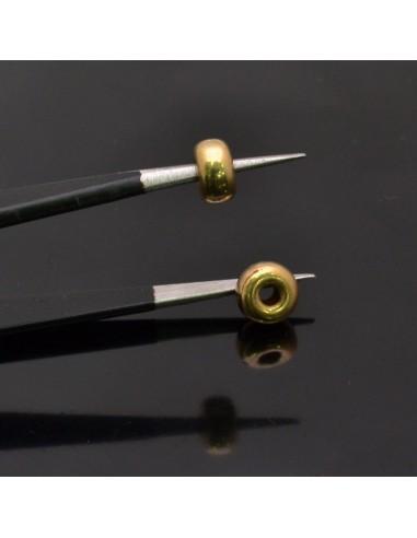Distanziatore ciambella 6x4 mm foro 1.5 mm 5pz in argento 925%