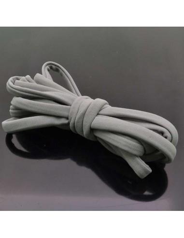 Fettuccia elastica tubolare elastica in Lycra colore grigio 1mt per bracciale collana