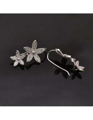 Monachelle con fiori in argento 925% da 23x15 mm anella 3 mm