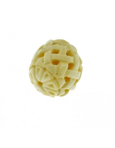Pietre dure di Osso Perla TONDO traforato 23x22 mm pz1 per le tue creazioni