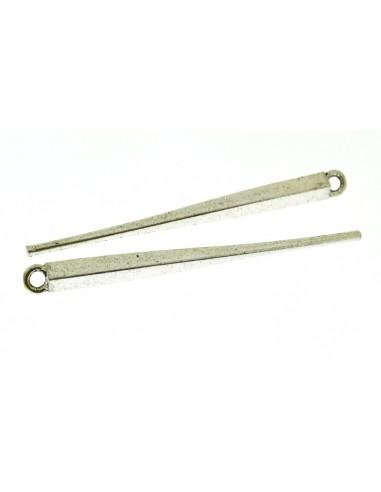 2 Pz. Ciondoli Pendenti lunghi argento