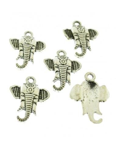 5 Pz. Ciondoli faccie Elefante piccole