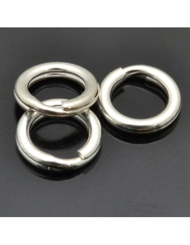 Anelle brisè da 6 mm da 10pz in argento 925%