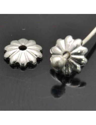 Copri perle 5 mm 27pz in argento 925%