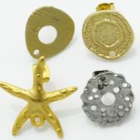 Base orecchini in metallo Zama